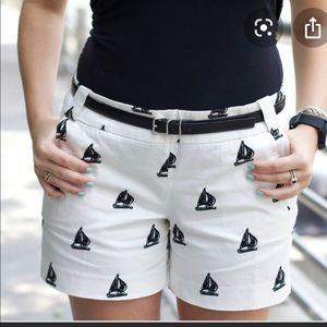 J CREW Stretch Chino City Fit Sailboat Shorts NWT